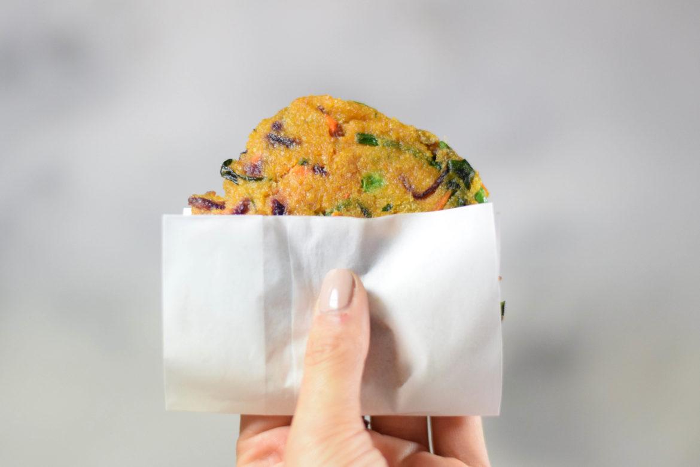 vegane Kartoffelpuffer mit Gemüse